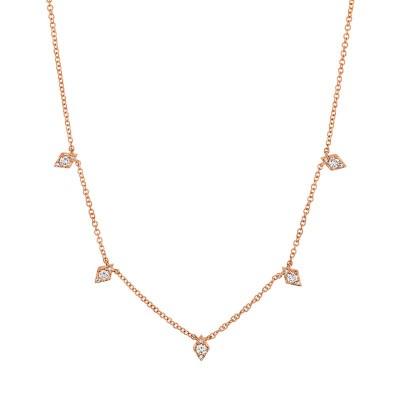 0.19ct 14k Rose Gold Diamond Necklace