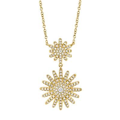 0.32ct 14k Yellow Gold Diamond Necklace