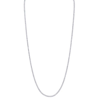 8.70ct 14k White Gold Diamond Tennis Necklace 36""