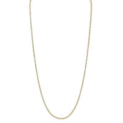 8.70ct 14k Yellow Gold Diamond Tennis Necklace 36""