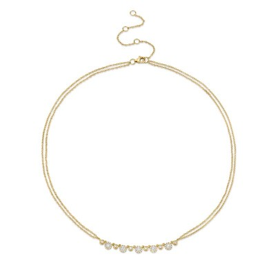 0.56ct 14k Yellow Gold Diamond Necklace