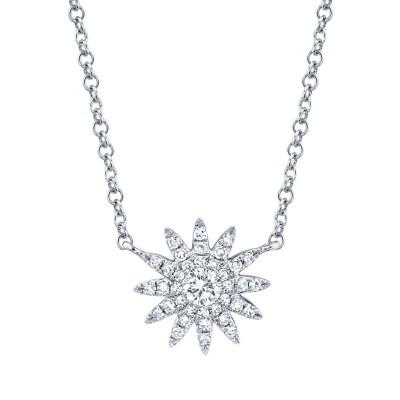 0.15ct 14k White Gold Diamond Necklace