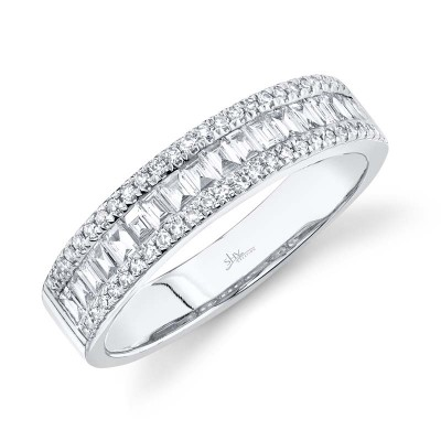 0.55ct 14k White Gold Diamond Baguette Lady's Band