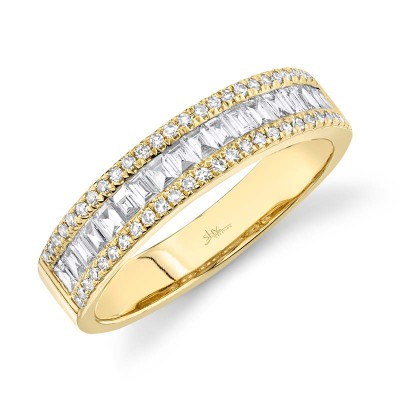 0.55ct 14k Yellow Gold Diamond Baguette Lady's Band