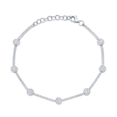 0.88ct 14k White Gold Diamond Bracelet