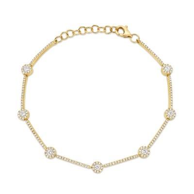0.88ct 14k Yellow Gold Diamond Bracelet