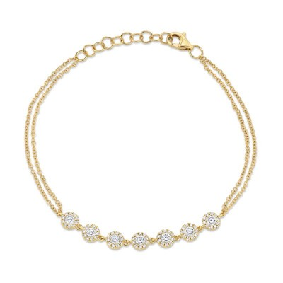 0.66ct 14k Yellow Gold Diamond Bracelet