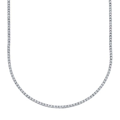 3.96ct 14k White Gold Diamond Tennis Necklace