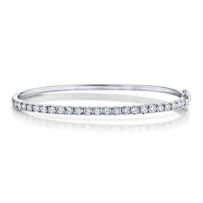 0.69ct 14k White Gold Diamond Bangle