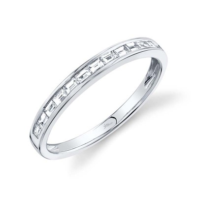 0.30ct 14k White Gold Diamond Baguette Lady's Band