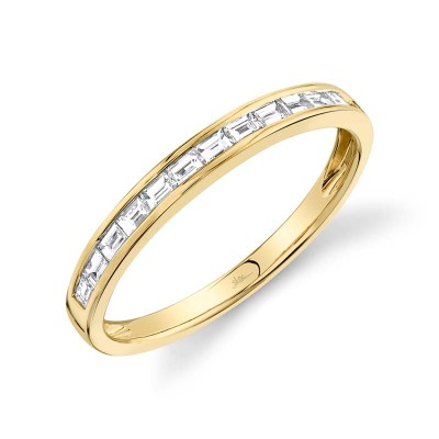 0.30ct 14k Yellow Gold Diamond Baguette Lady's Band