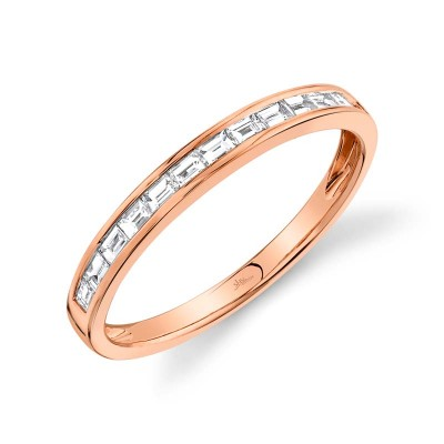 0.30ct 14k Rose Gold Diamond Baguette Lady's Band