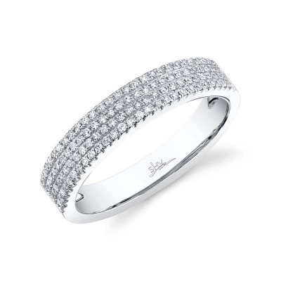0.29ct 14k White Gold Diamond Pave Lady's Band