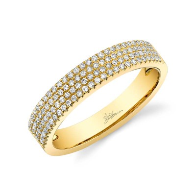 0.29ct 14k Yellow Gold Diamond Pave Lady's Band