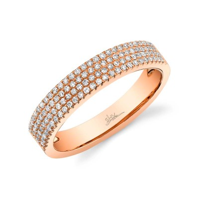 0.29ct 14k Rose Gold Diamond Pave Lady's Band