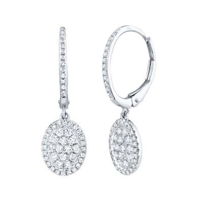 0.49ct 14k White Gold Diamond Earring