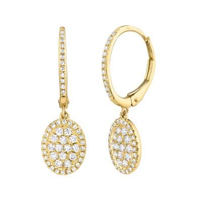 0.49ct 14k Yellow Gold Diamond Earring