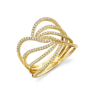 0.37ct 14k Yellow Gold Diamond Lady's Ring
