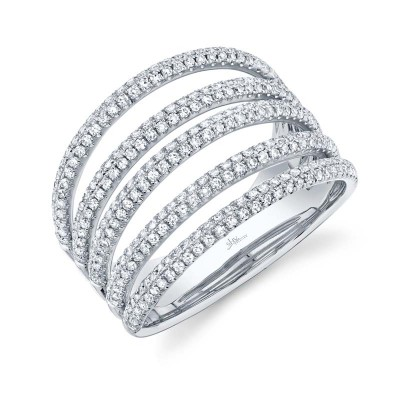 0.83ct 14k White Gold Diamond Pave Lady's Ring
