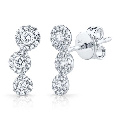 0.36ct 14k White Gold Diamond Stud Earring