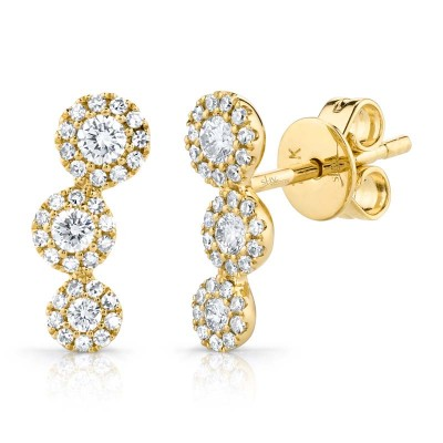 0.36ct 14k Yellow Gold Diamond Stud Earring