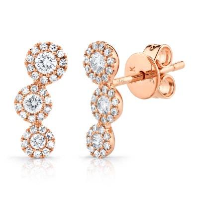 0.36ct 14k Rose Gold Diamond Stud Earring