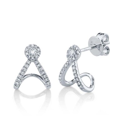 0.20ct 14k White Gold Diamond Earring