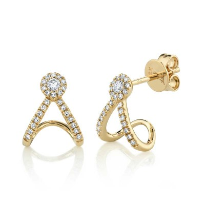 0.20ct 14k Yellow Gold Diamond Earring