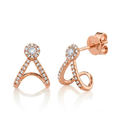 0.20ct 14k Rose Gold Diamond Earring