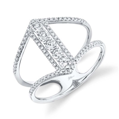 0.53ct 14k White Gold Diamond Lady's Ring