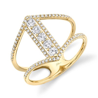 0.53ct 14k Yellow Gold Diamond Lady's Ring