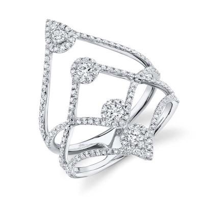 0.71ct 14k White Gold Diamond Lady's Ring