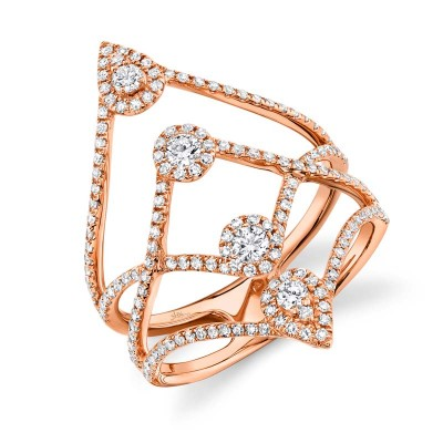 0.71ct 14k Rose Gold Diamond Lady's Ring