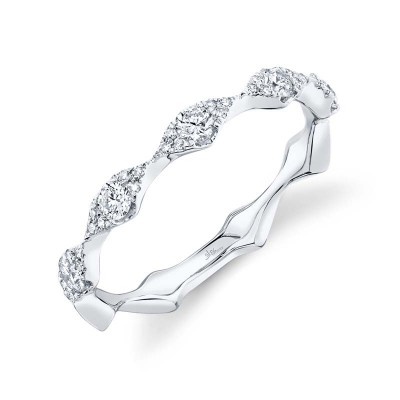 0.38ct 14k White Gold Diamond Lady's Band