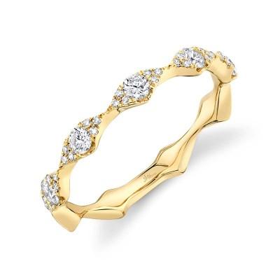 0.38ct 14k Yellow Gold Diamond Lady's Band