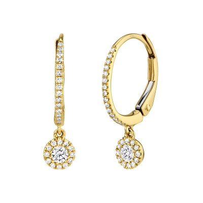 0.30ct 14k Yellow Gold Diamond Earring