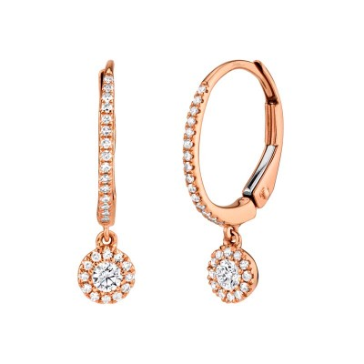 0.30ct 14k Rose Gold Diamond Earring