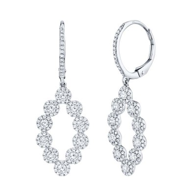 1.26ct 14k White Gold Diamond Lady's Earring