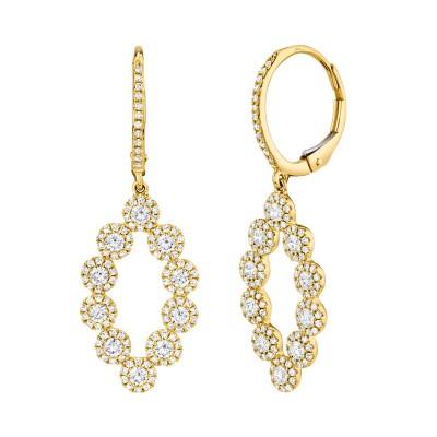 1.26ct 14k Yellow Gold Diamond Lady's Earring
