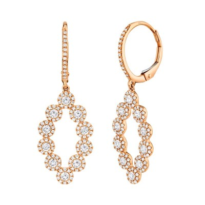 1.26ct 14k Rose Gold Diamond Lady's Earring