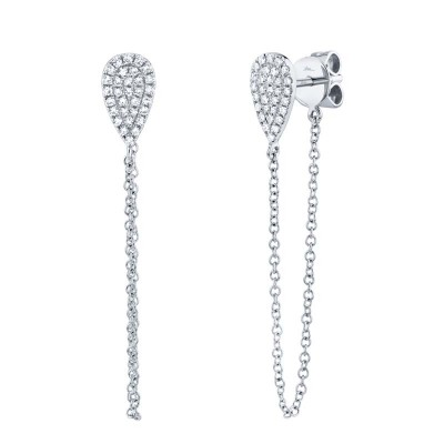 0.15ct 14k White Gold Diamond Earring