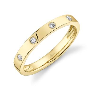 0.07ct 14k Yellow Gold Diamond Lady's Band