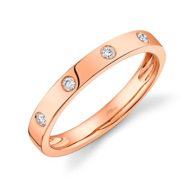 0.07ct 14k Rose Gold Diamond Lady's Band