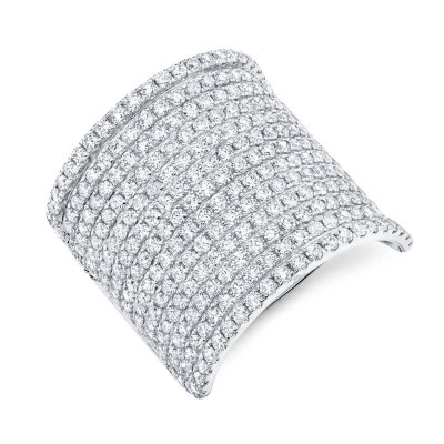 2.86ct 14k White Gold Diamond Pave Lady's Ring