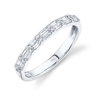 0.35ct 14k White Gold Diamond Baguette Lady's Band