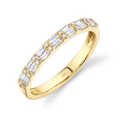 0.35ct 14k Yellow Gold Diamond Baguette Lady's Band