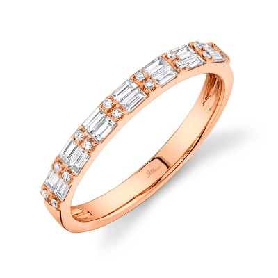 0.35ct 14k Rose Gold Diamond Baguette Lady's Band