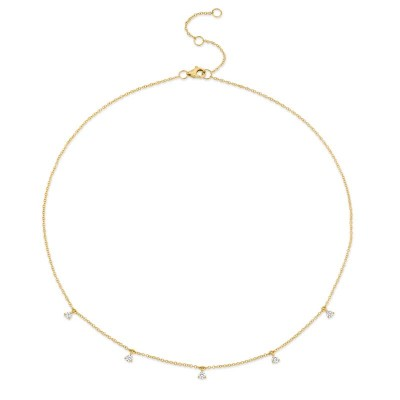 0.30ct 14k Yellow Gold Diamond Necklace