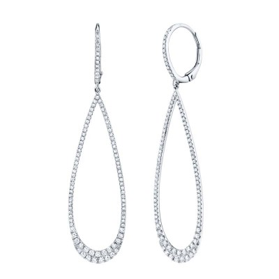 0.80ct 14k White Gold Diamond Lady's Earring