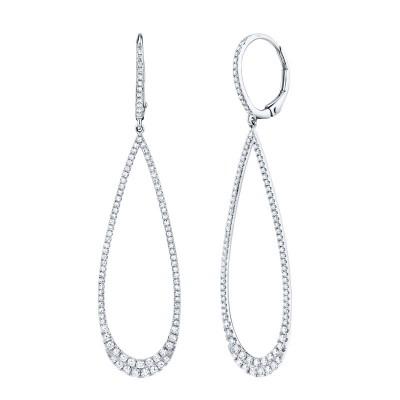 0.80ct 14k White Gold Diamond Lady's Earring